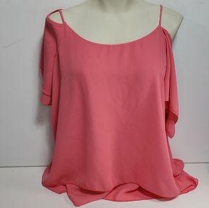 Suzy Shier Cold Shoulder Blouse